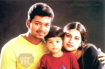 vijay wife and son