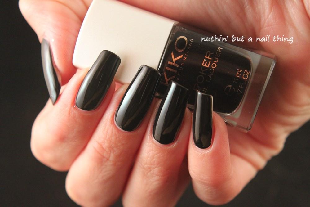 Kiko Poker Nail Lacquer - Slick Bluenoir