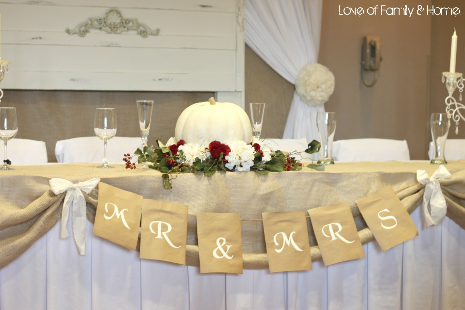 Diy wedding word banners love of family home for Decoration word