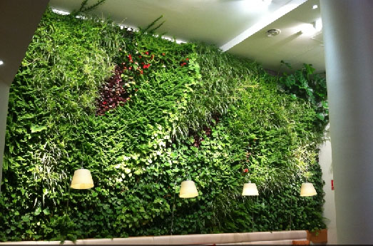 Jard n vertical de paisajismo urbano en madrid jardines for Jardin vertical madrid