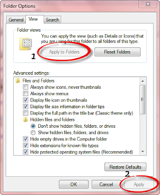 Folder View change in windows