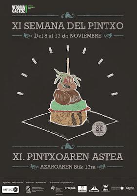 la Semaine du Pintxo 2013 à Vitoria au pays basque - province d'Alava - espagne