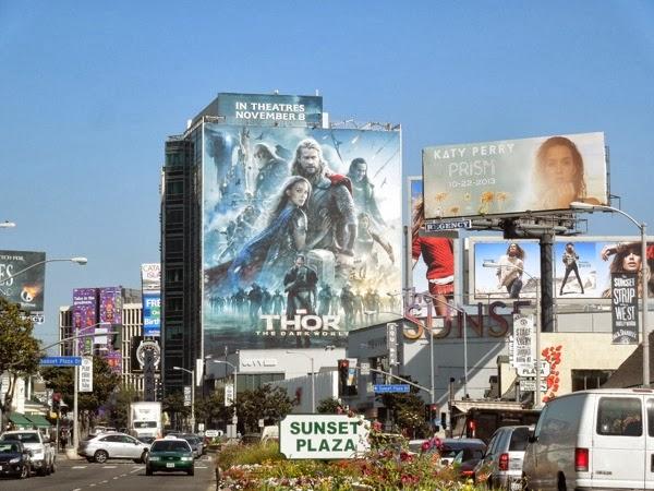 Giant Thor The Dark World movie billboard