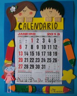 Calendário decorado em eva
