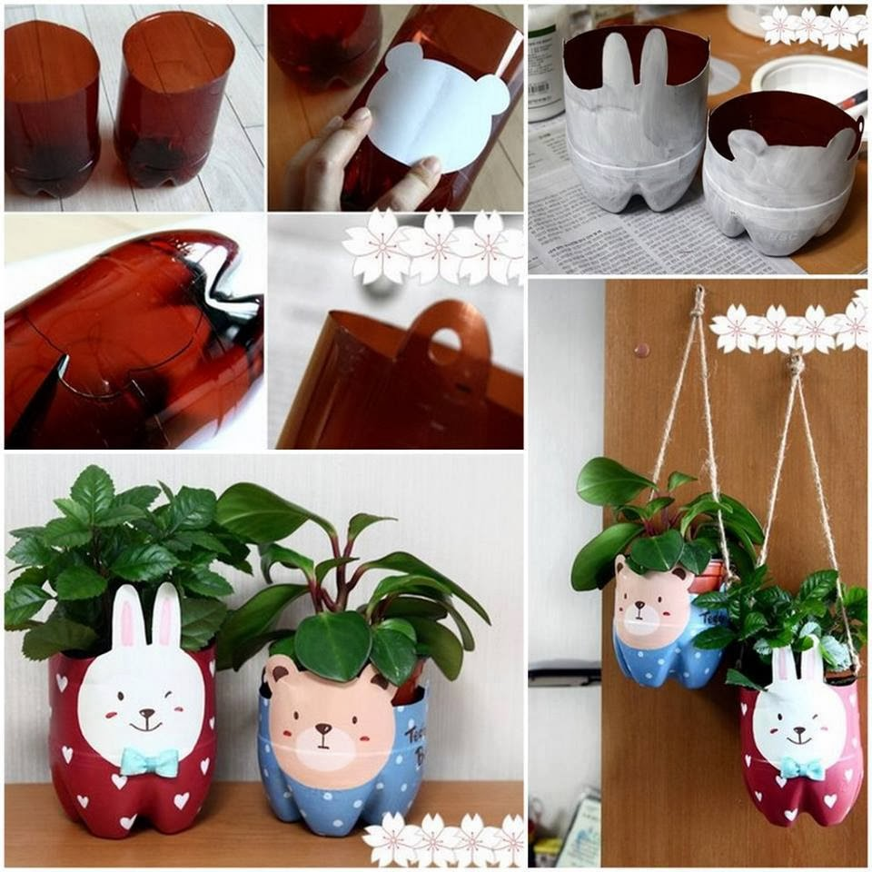 Transform a plastic bottle into a flower pot goodiy for Diy recycled plastic bottles