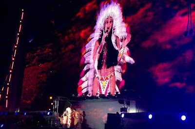 Cher in her 'Half Breed' outfit