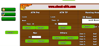 PANEL Cheat-Afrix ATM Exp TP PET Hunting House NInja Saga Terbaru