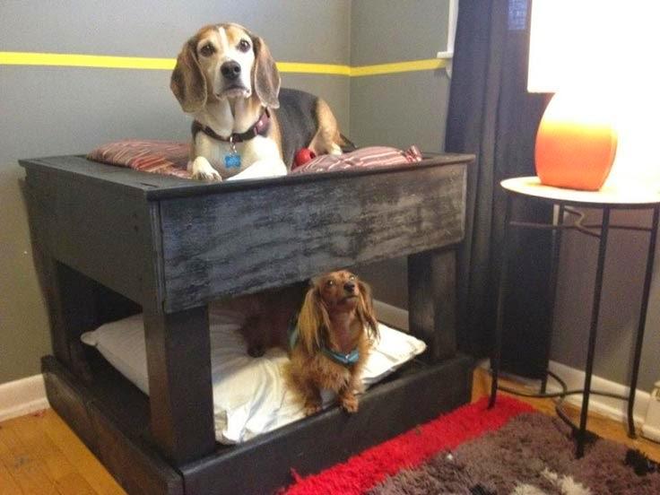 Literas para perros hechas con palets - Casas para perros con palets ...