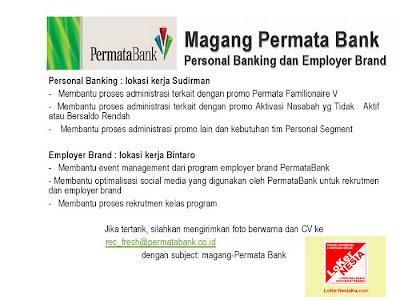 Permata Bank Karir November 2012 Magang Bank untuk Bidang Personal Banking & Employer Brand Di Jakarta