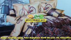 Harga Sprei Fata Signature Motif Bicycle Uk.180x200cm Jual