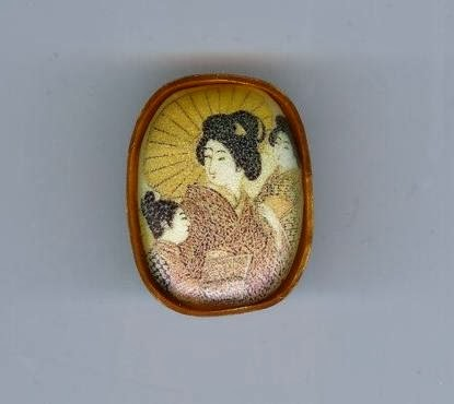 Japanese Women Brooch