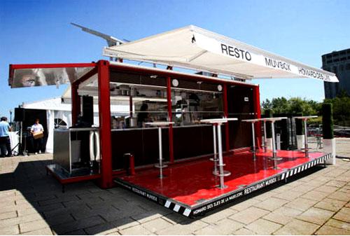 restoran kontainer