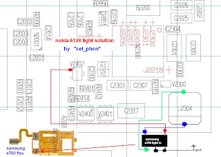 nokia 6120c display light problem solution
