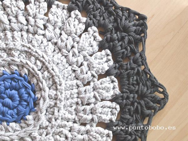 Ganchillo xl y agujas de madera artesanales talleres - Tutorial alfombra trapillo ...