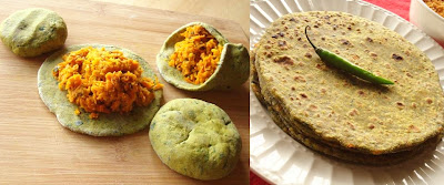 Spinach Carrot Paratha