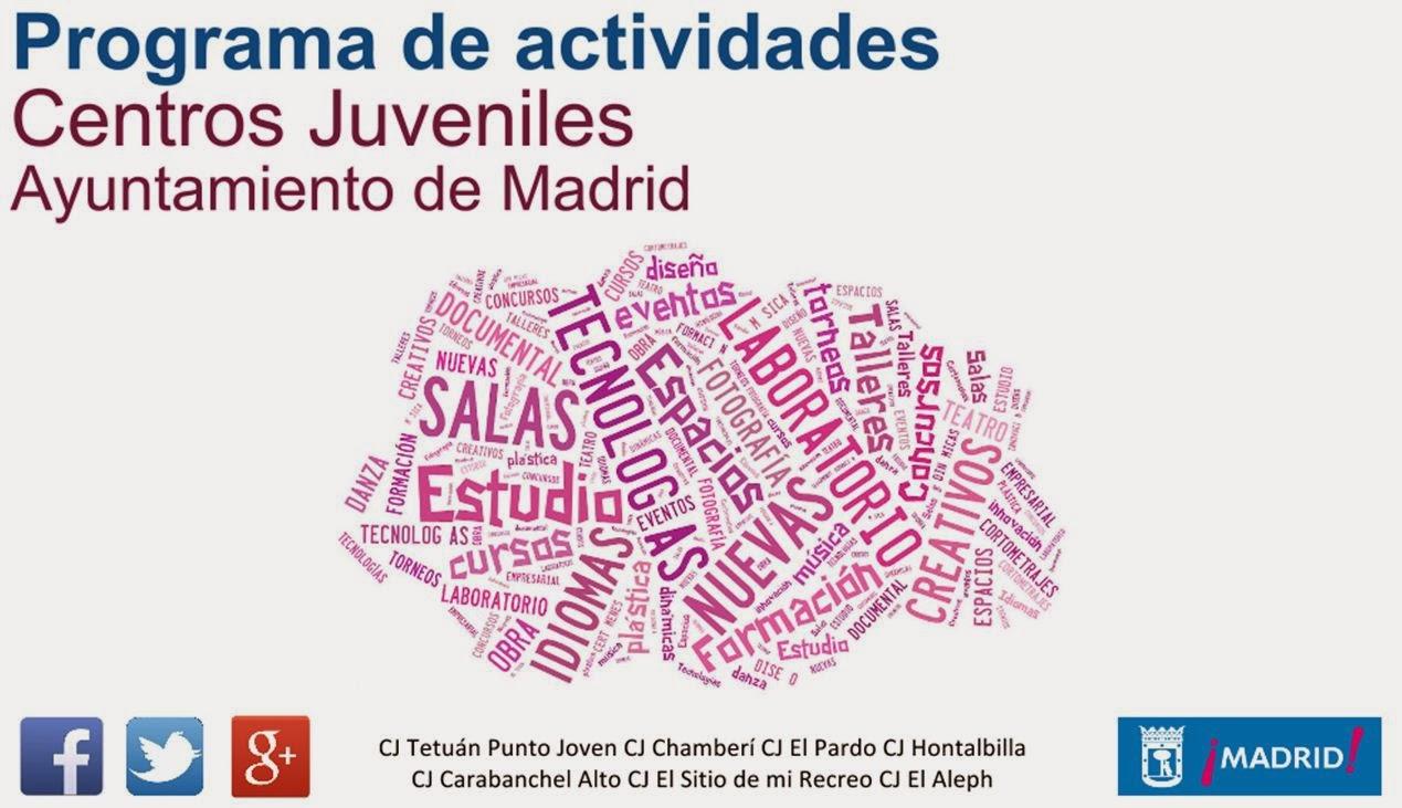 Programa de actividades. Centros Juveniles. Febrero