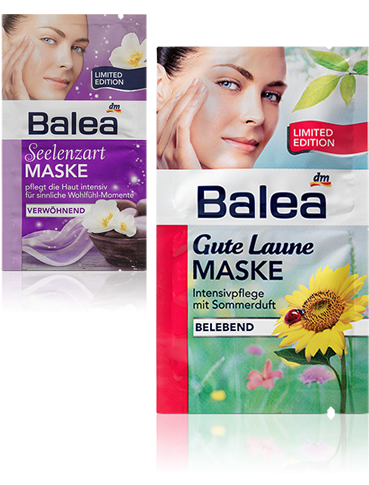 Balea Goodbye Maske Seelenzart und Balea Gute Laune Maske