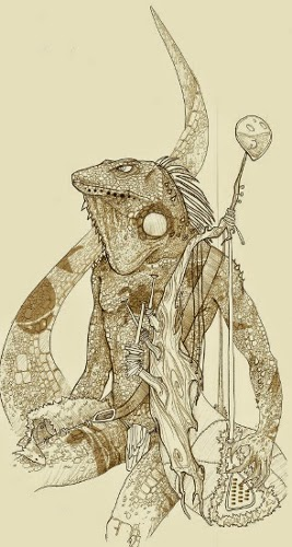 Goowan, l'homme-iguane