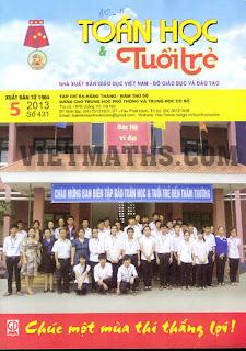 tap chi toan hoc tuoi tre so 431 thang 5 nam 2013, Tạp chí Toán học Tuổi trẻ số 431 tháng 5 năm 2013