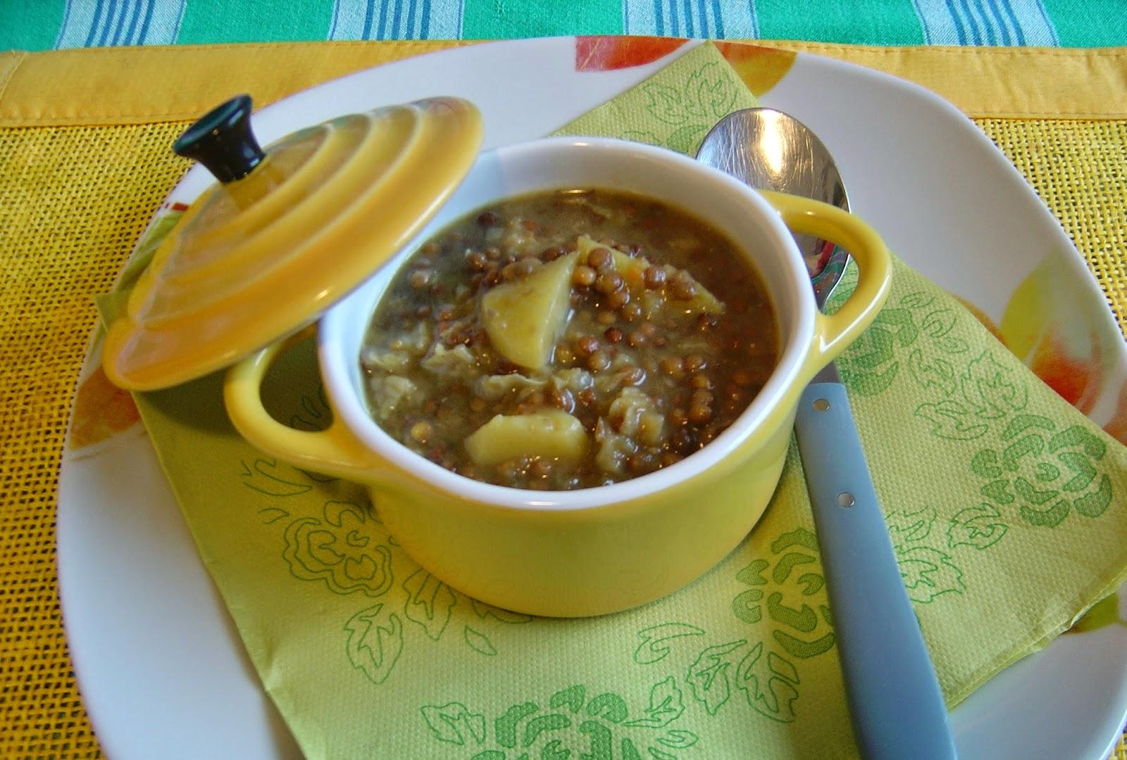 La cucina piccoLINA: Zuppa di lenticchie e verza