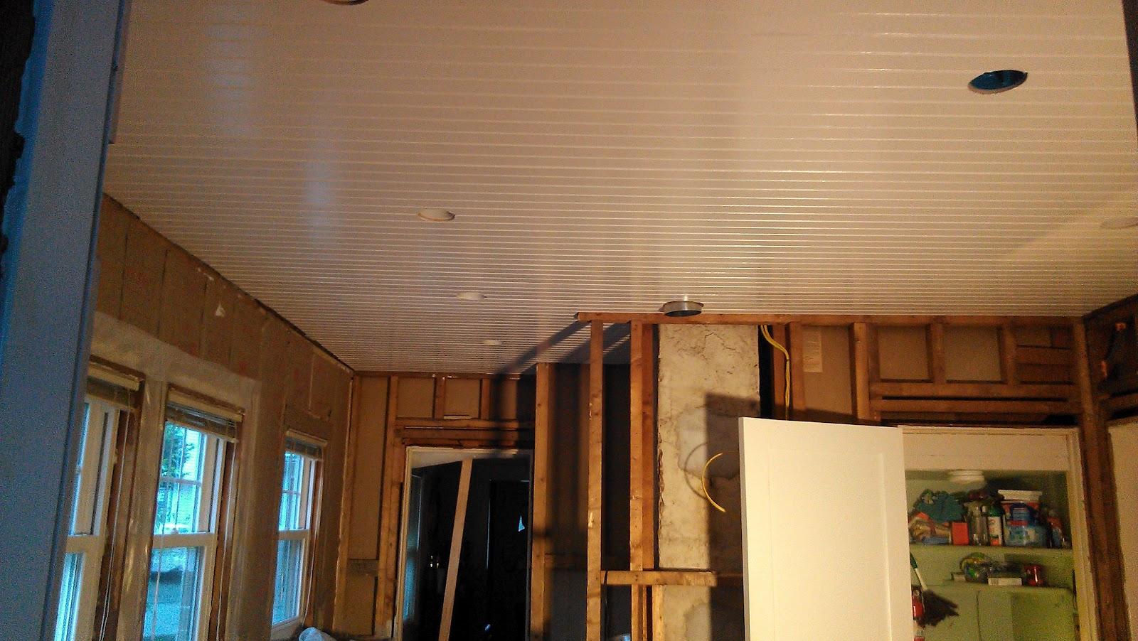 Who Wants Drywall?! Beadboard Ceiling!