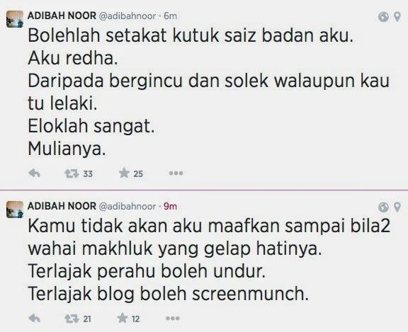 Azwan Ali Dan Adibah Noor Berperang Status Di Twitter?