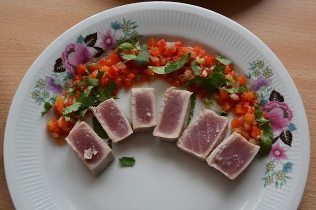 Tuna with peppers