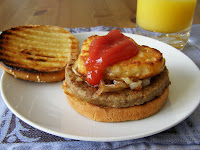 Morning Sausage and Hash Brown Burger