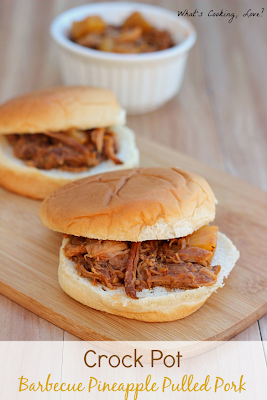 http://whatscookinglove.com/2014/01/crock-pot-barbecue-pineapple-pulled-pork/
