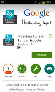 Aplikasi Android Terbaru 2015 Untuk Masukan Tulis Tangan Dari Google