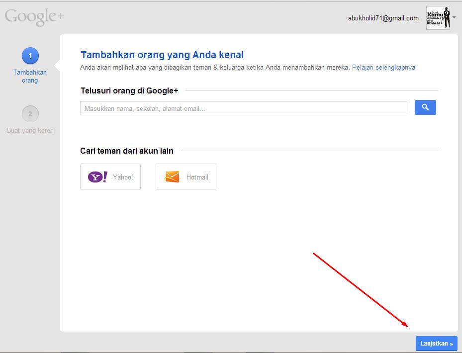 cara membuat akun google+