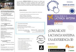 FIESTA DE LA LACTANCIA MATERNA EN GRANADA 2 de octubre de 2011