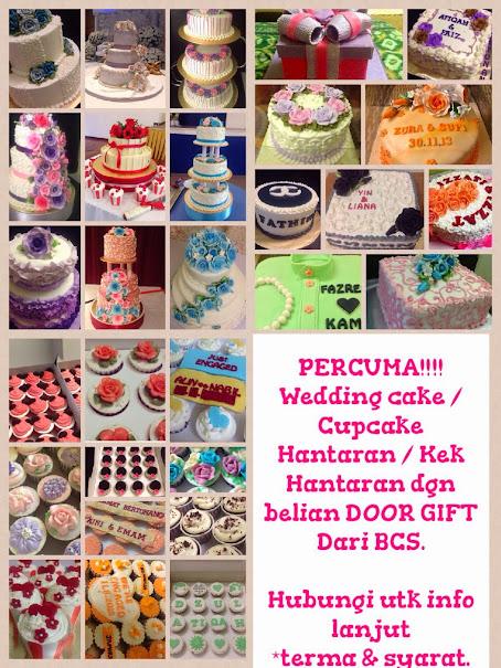 Nak percuma wedding cake / cupcake Hantaran / kek Hantaran ????