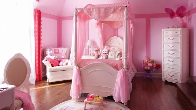 Cuartos de ni a en rosa dormitorios colores y estilos for Rideaux chambre petite fille