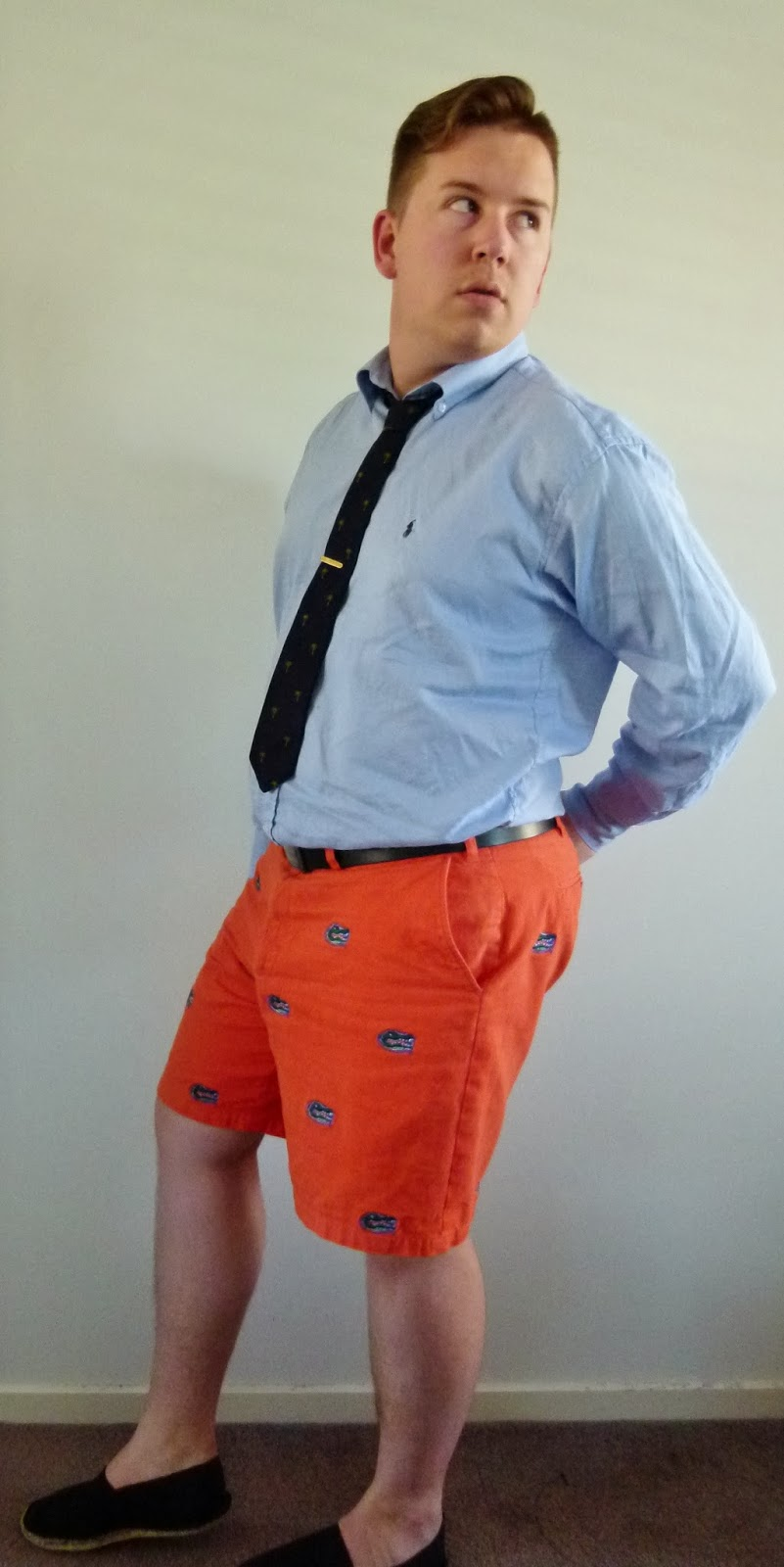 Daily outfit casual friday means shorts and tie ink for Casual shirt and tie