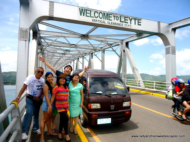 family in San Juanico Bridge