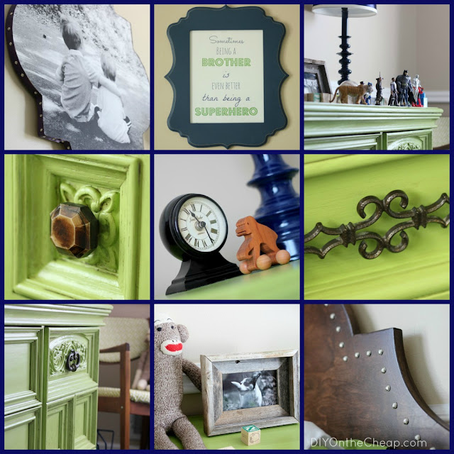Boys' Bedroom Collage