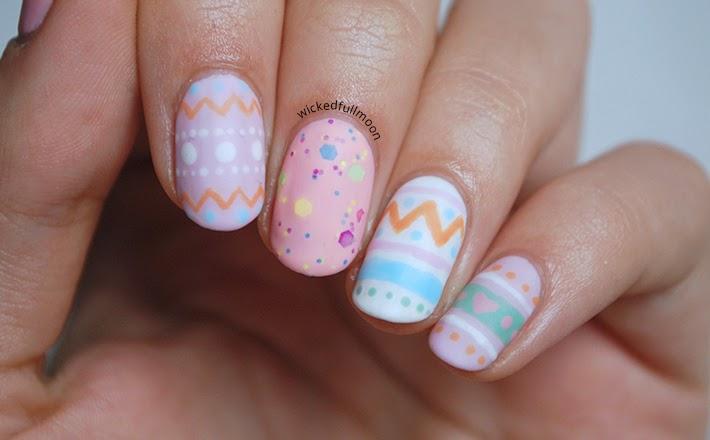 Wicked Fullmoon: | Nail Art | Huevos de pascua.