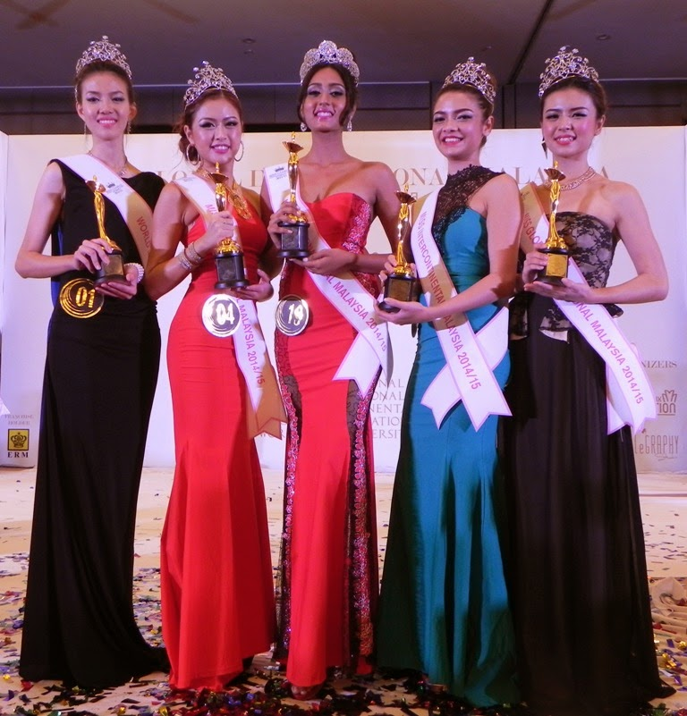 MISS GLOBAL INTERNATIONAL MALAYSIA 2014 OFFICIAL TOP 5 WINNERS!
