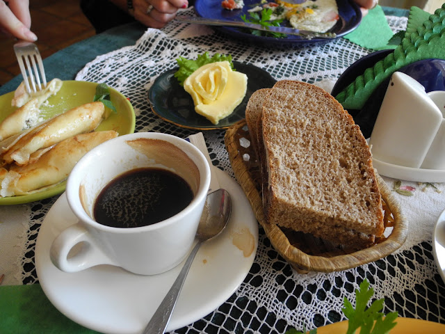 Breakfast in Retro Cafe, Ternopil, Ukraine