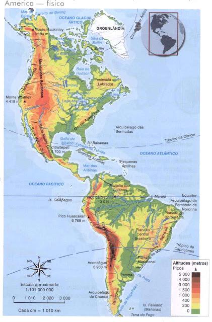 GEOGRAFIA ATUAL: Mapas do Continente Americano