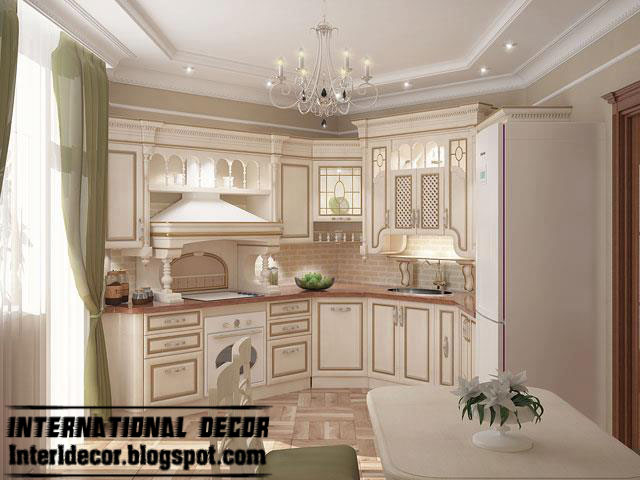 classic kitchen design. Luxury Kitchen Design, Wood Cabinets, White Design Classic