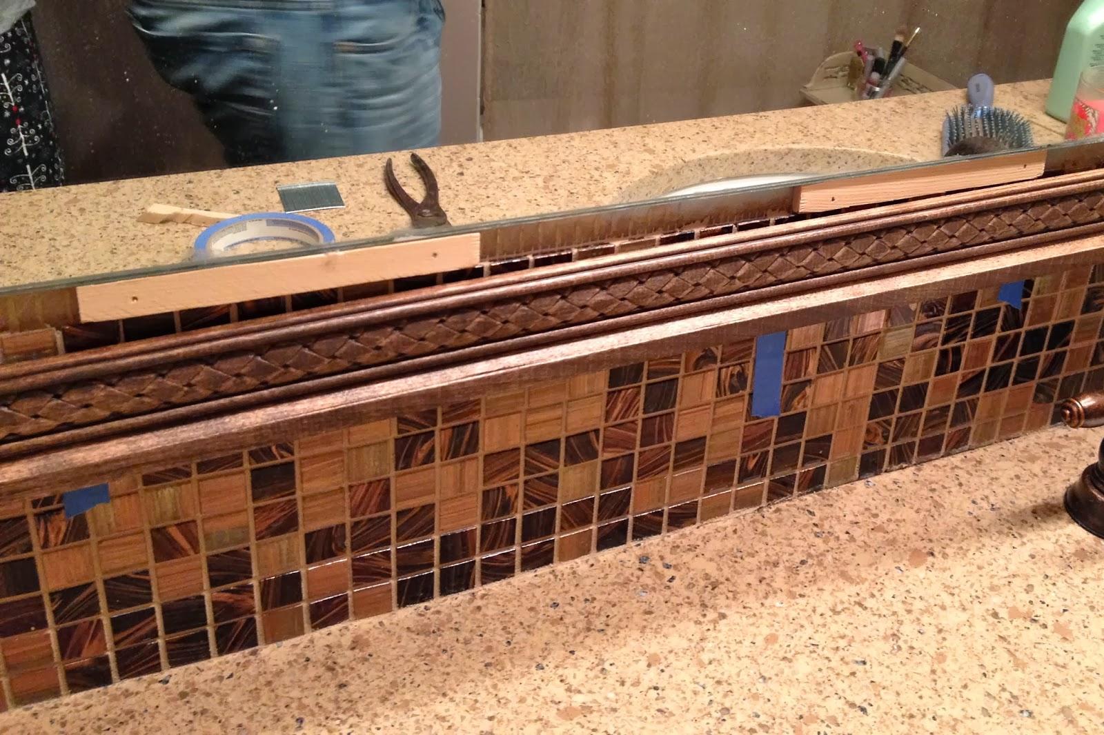 Bathroom Mirror Decorative Trim diy why spend more: decorative trim on bathroom mirror