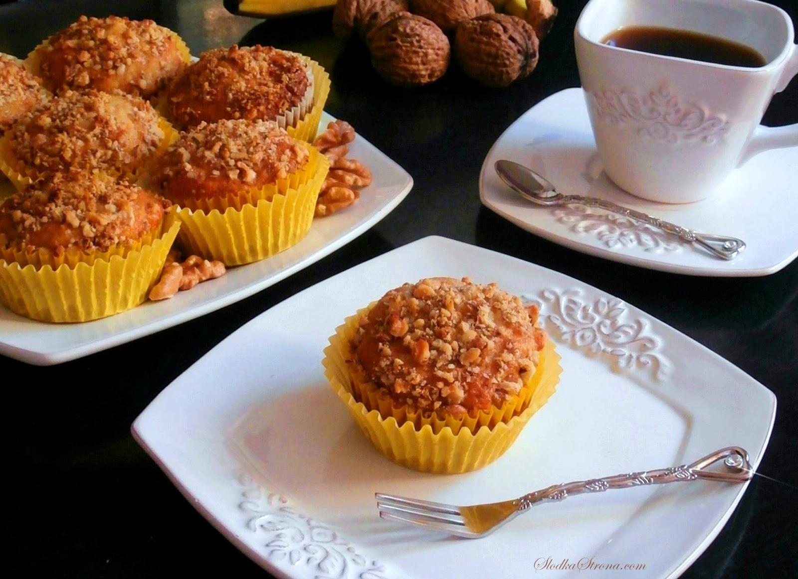 muffinki orzechowe przepis