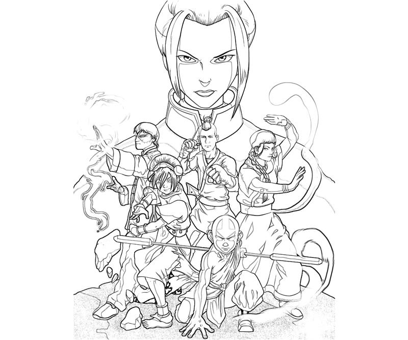 avatar aang coloring pages - photo#4