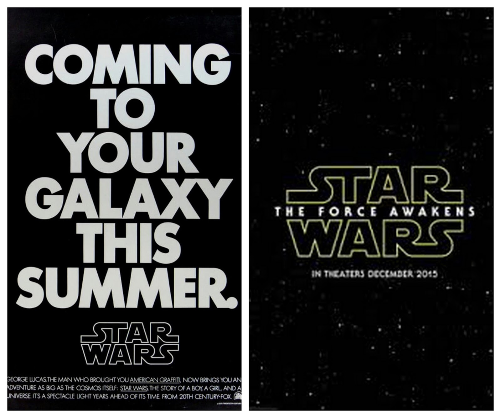 ... perfect snapshot of when all the new 'Star Wars' movies are coming out