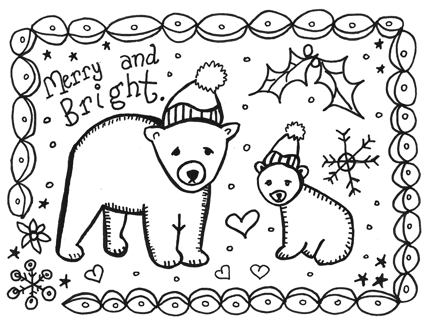 printable winter coloring pages marcia beckett