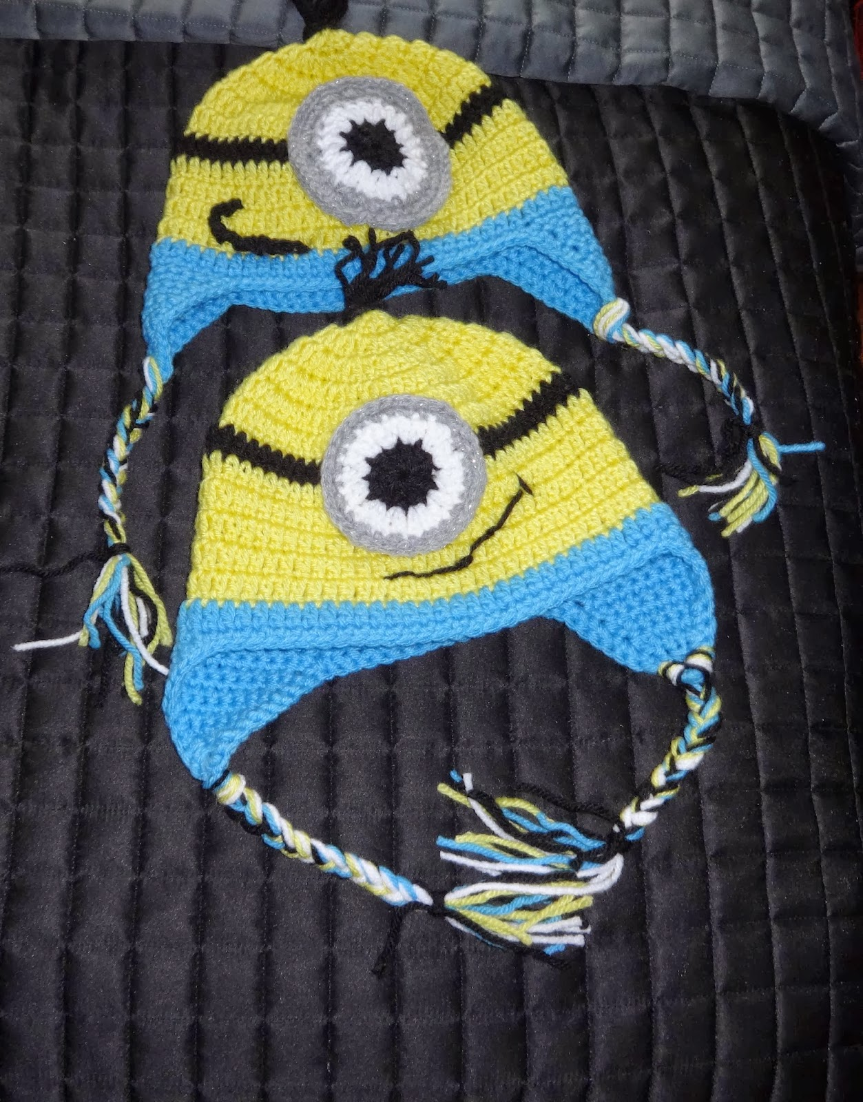 Free Crochet Pattern Minion Beanie : Its Craftini Time!: Minion Earflap Crochet Hat and Beanie ...
