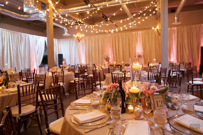 wedding reception decor, lighting, draping,  - Flora Nova Design, Seattle