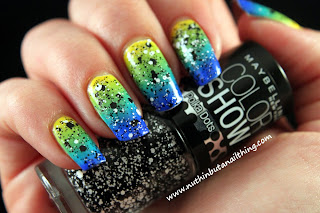 Maybelline Color Show Polka Dots - Chalk Dust over a gradient...